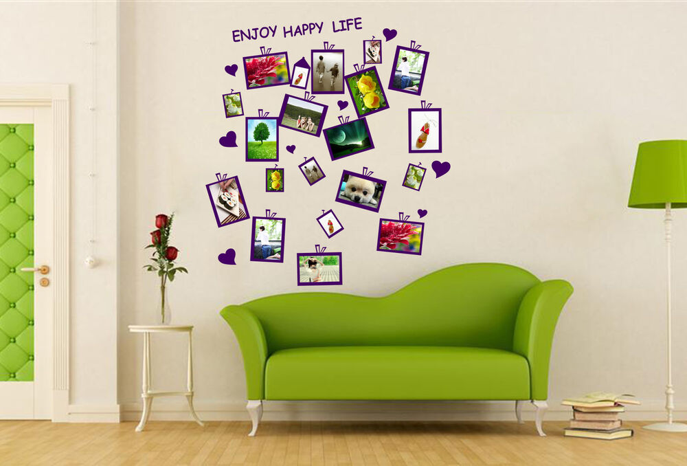 Photo Frame Family Tree Decal Wall Decals Wall Decor: Family Picture Photo Frame Wall Sticker Vinly Decal Decor