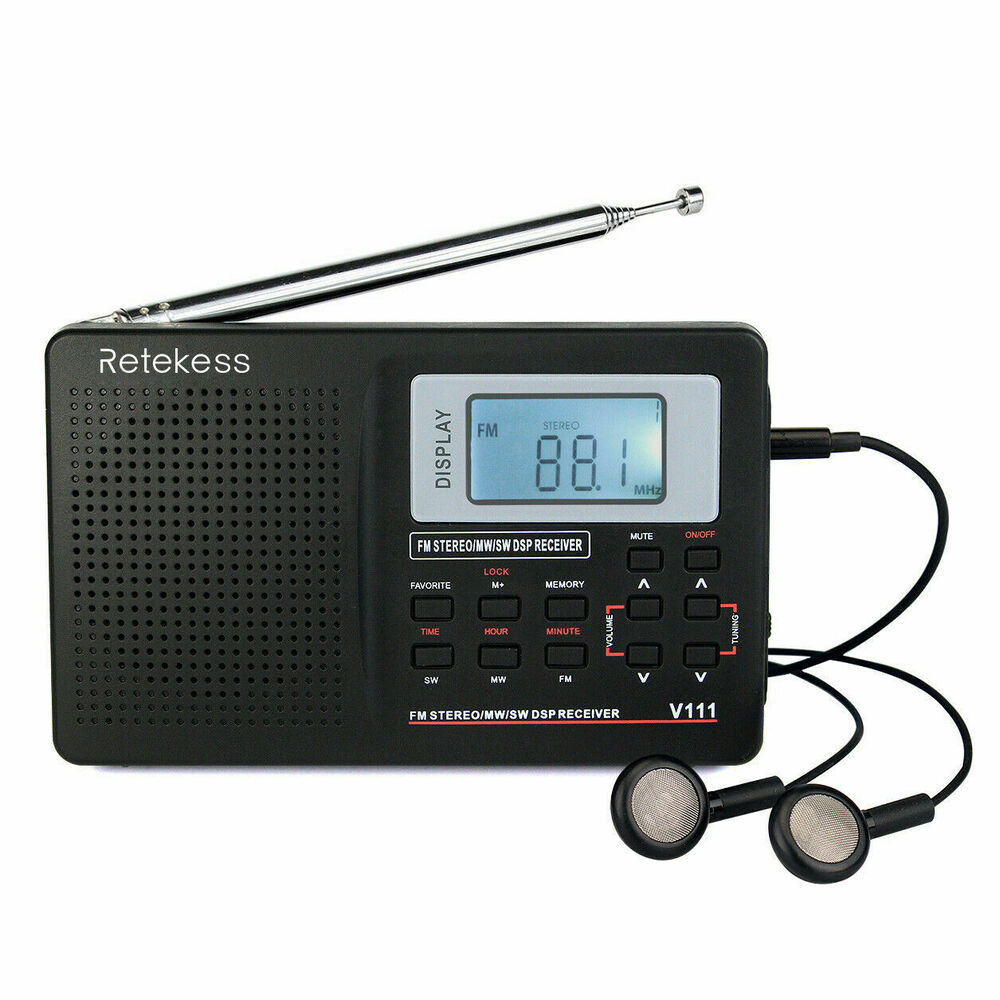 portable dsp fm stereo mw sw radio world band receiver. Black Bedroom Furniture Sets. Home Design Ideas