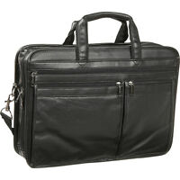 Bellino Soft Brief / Laptop Case - Black Non-Wheeled Computer Case NEW