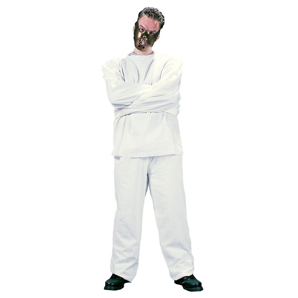 Straight Jacket Costume & Mask Hannibal Lecter Scary Fancy ...