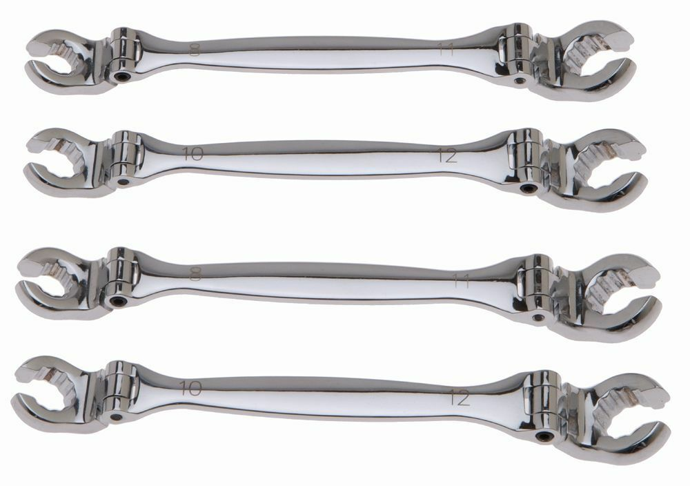 Piece flexi flare nut pipe spanner wrench set open