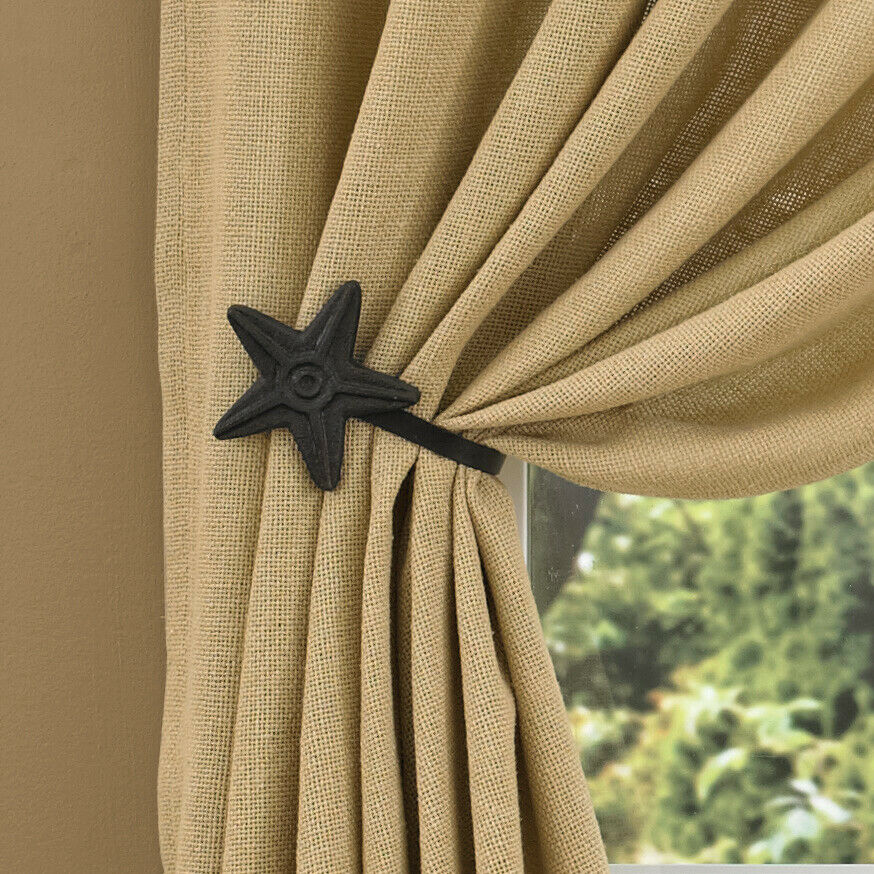 curtain tie backs in black iron by park designs