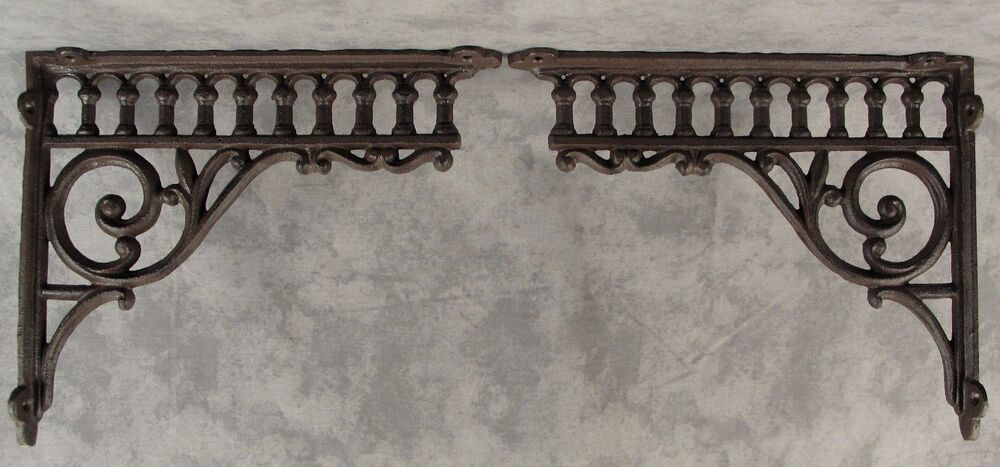 "2 VICTORIAN EASTLAKE CAST IRON 8 ¾"" X 10 ½"" WALL CORNER"