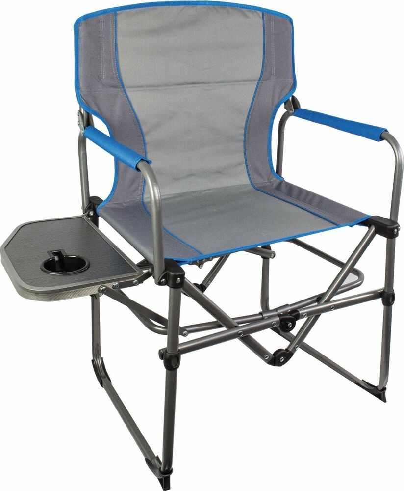 Compact Directors Chair With Side Table Folding Compact