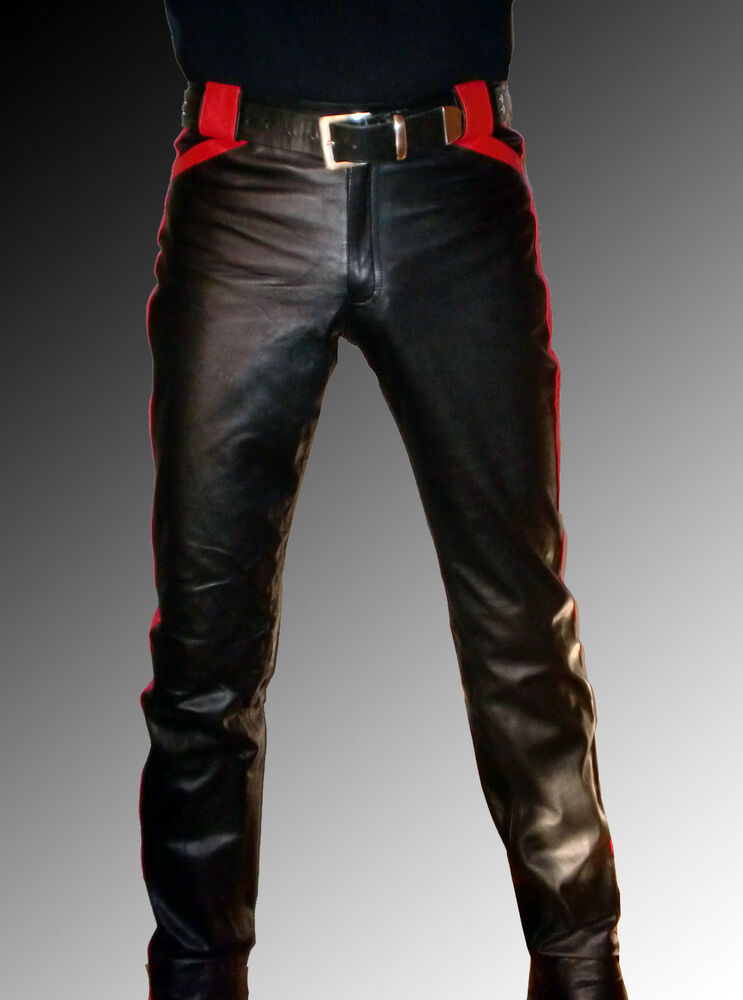 Leather Trousers for Mens The item that you are currently looking at is a great pair of leather trousers that have been designed around a pair of classic jeans. This Leather .