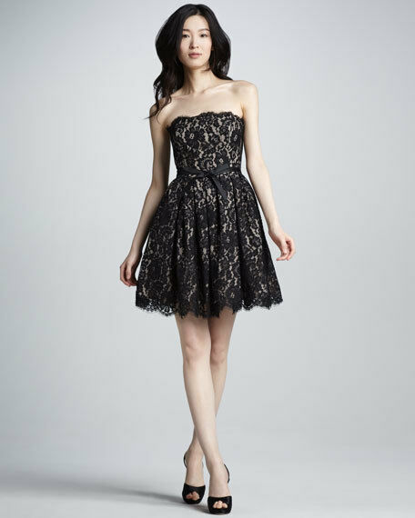 Neiman Marcus Target Robert Rodriguez Lace Strapless Party Cocktail