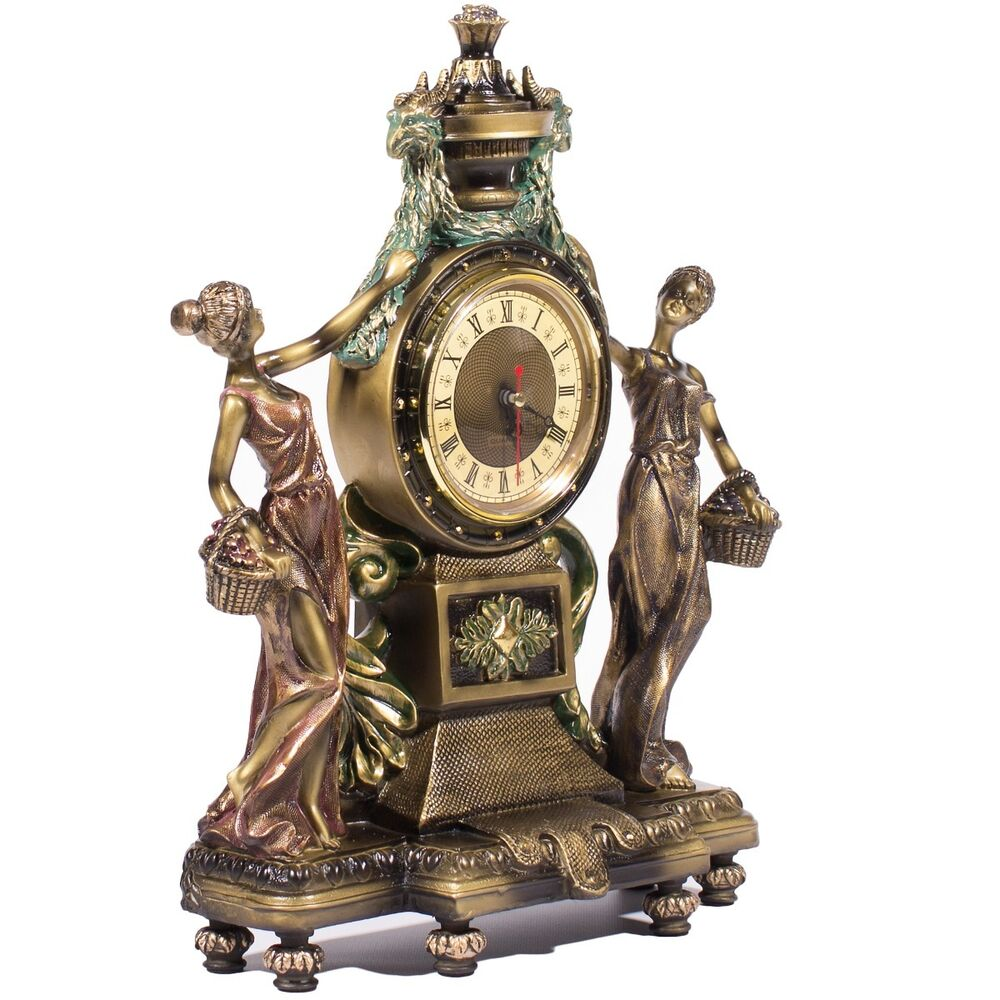 Clock Statue Figurines Victorian Style Home Decor For