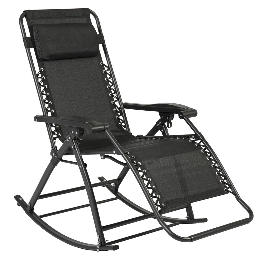 Best Choice Products Zero Gravity Rocking Chair Lounge Porch Seat Outdoor Pat