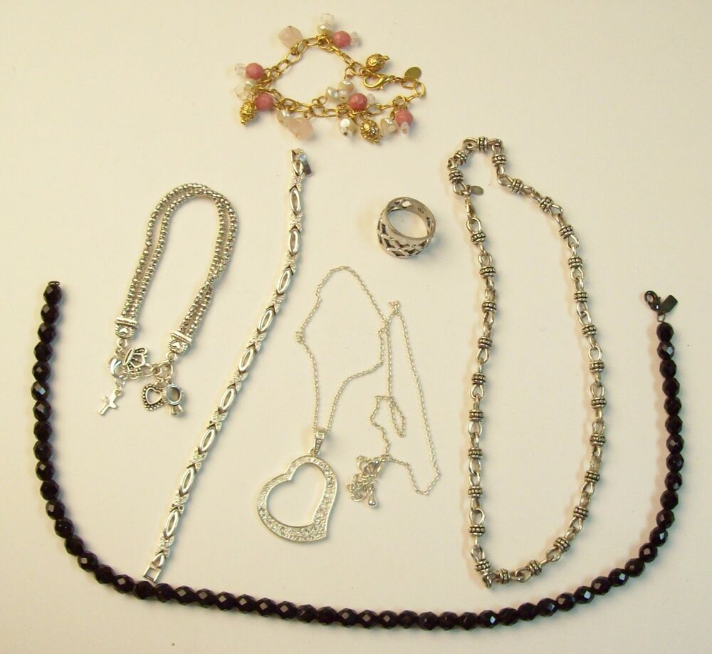 Lot vintage premier designs glitzy jewelry necklaces for Premier jewelry cross ring