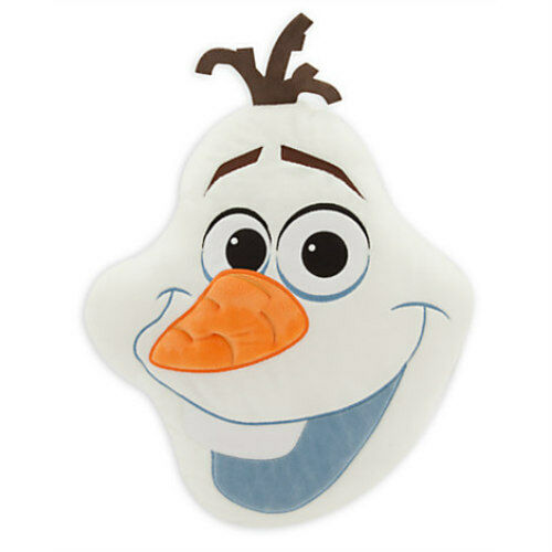 Disney Frozen Olaf Plush Pillow Embroidered Head Cushion