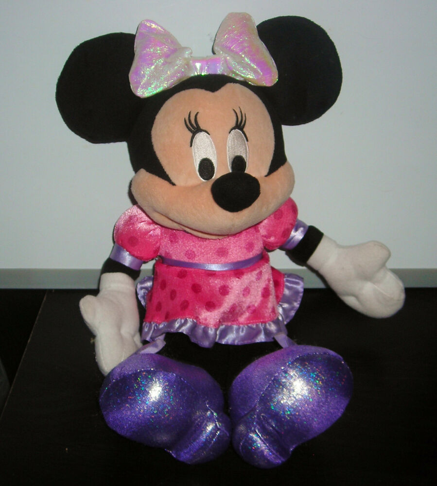 Minnie Mouse Toys : Disney minnie mouse quot talking light up plush toy ebay