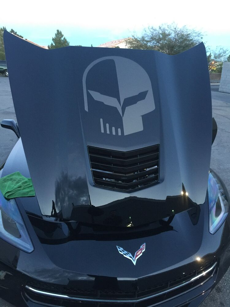 Chevy Jake Corvette Punisher Hood Vinyl Decal Sticker