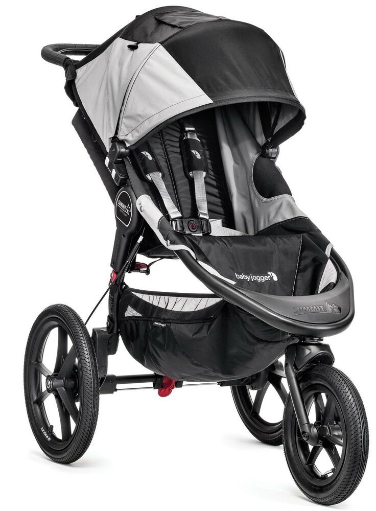 Baby Jogger Summit X3 Jogging Stroller Black Gray New
