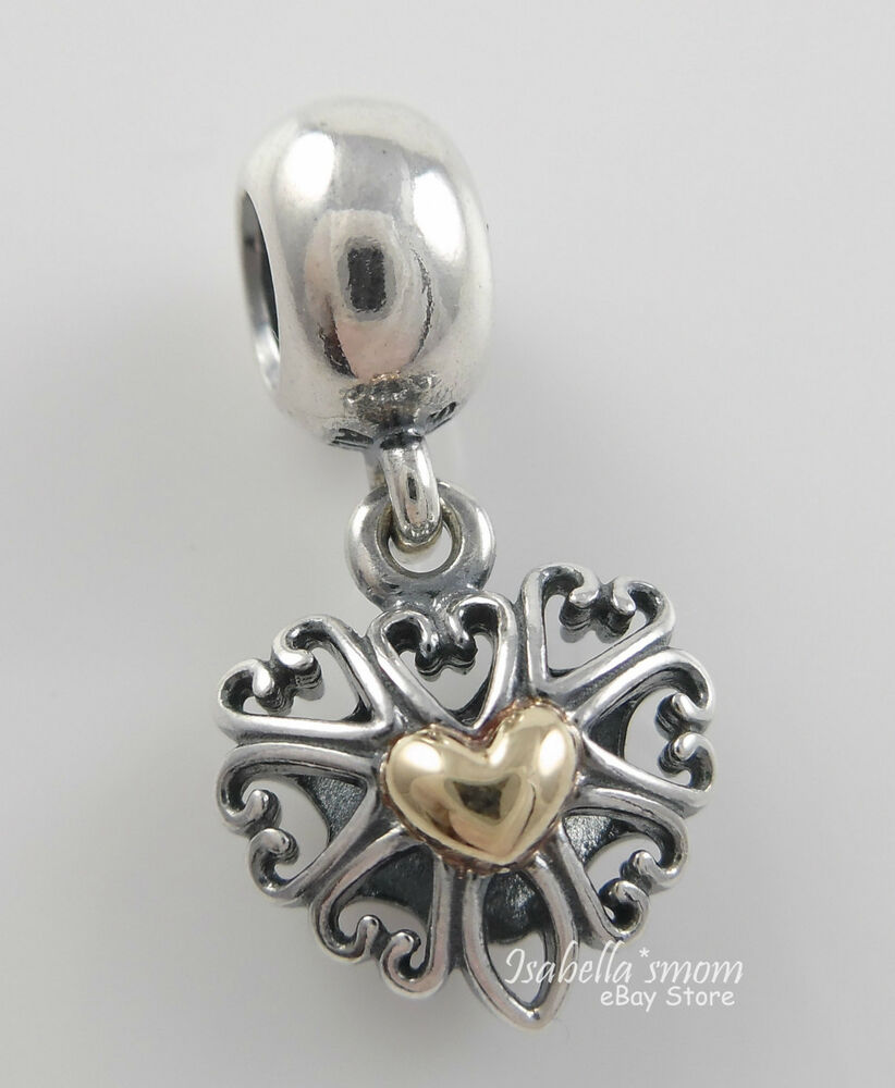 Filled With Love Genuine Pandora Silver 14k Gold Tribal