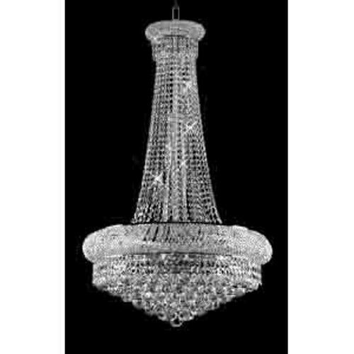 Swarovski Crystal Dollhouse Chandelier: Swarovski Crystal Trimmed Chandelier! French Empire