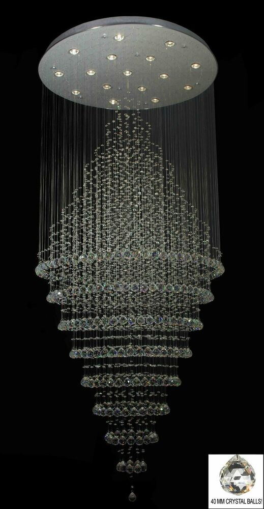 Swarovski crystal trimmed chandelier modern contemporary for How to make a modern chandelier