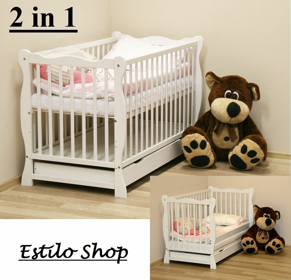 Cotbeds Cot Bed Wooden Toddler Baby Cot With Mattress Baby