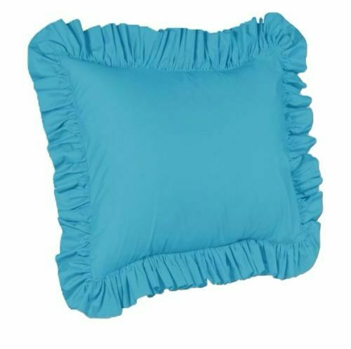One Piece Euro Ruffled Shams Solid Cover Case Decorative Pillow (8 Colors) eBay