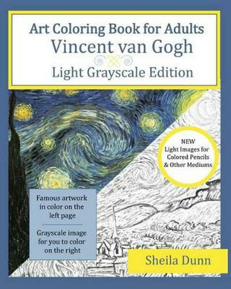 Art Coloring Book For Adults Vincent Van Gogh Light