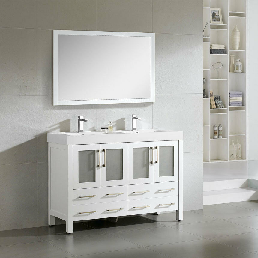 modern double sink bathroom vanities dowell 48 quot 019 48 01 modern sink bathroom vanity 23809