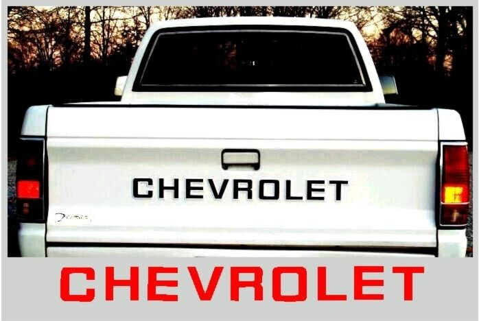 67 72 Chevy Truck Parts >> 82-91 Chevy S10 Truck Pickup Tailgate Letter Decals   eBay