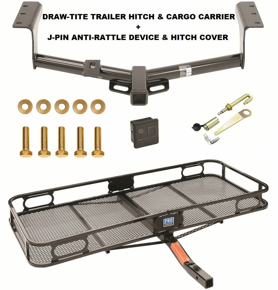 TRAILER HITCH + CARGO BASKET CARRIER + SILENT PIN LOCK ...