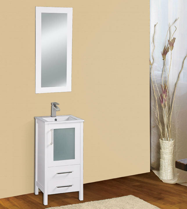 Dowell 17 019 18 01 Single Sink Bathroom Vanity White Color Ebay