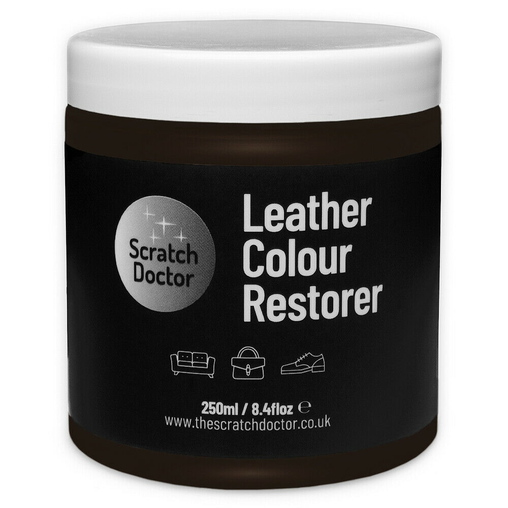 Dark Brown Leather Dye Colour Restorer For Faded And Worn