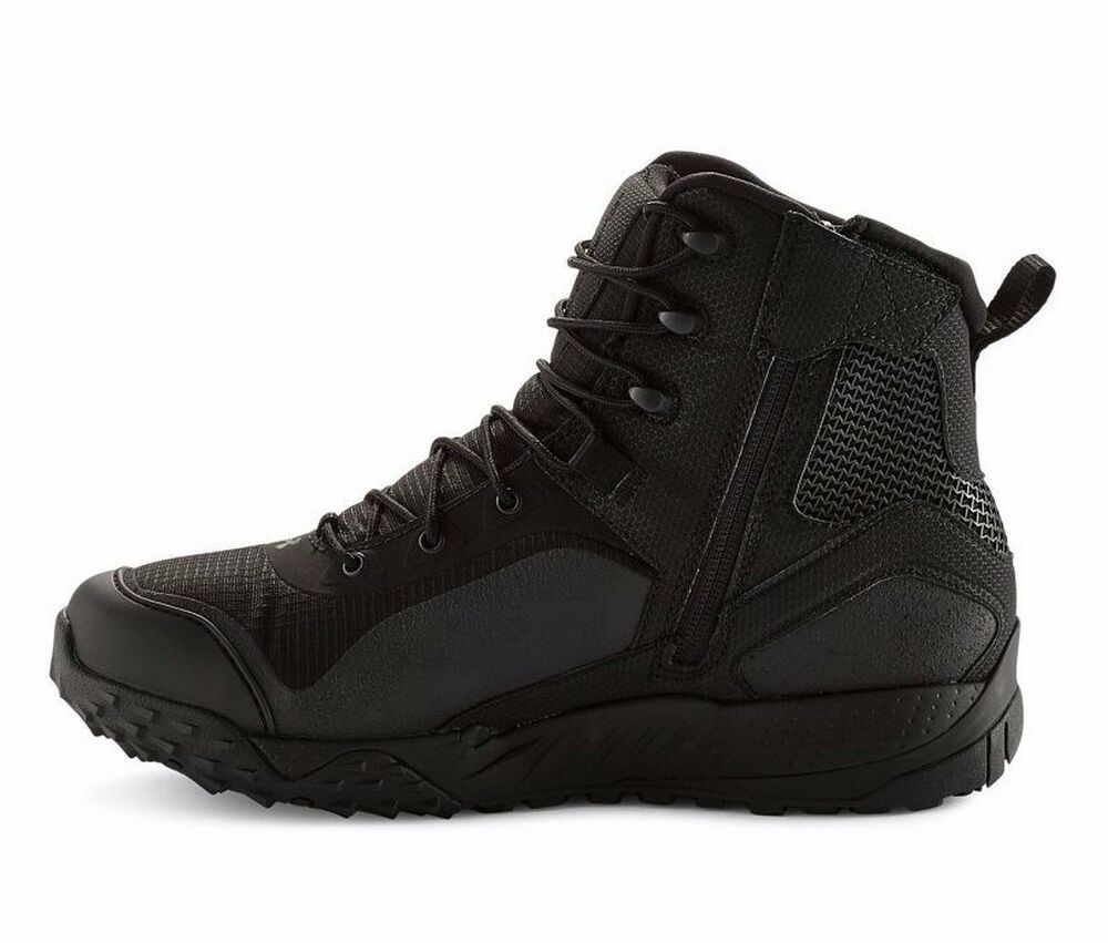 Under Armour Valsetz Rts Side Zip Ua Tactical Boots Black