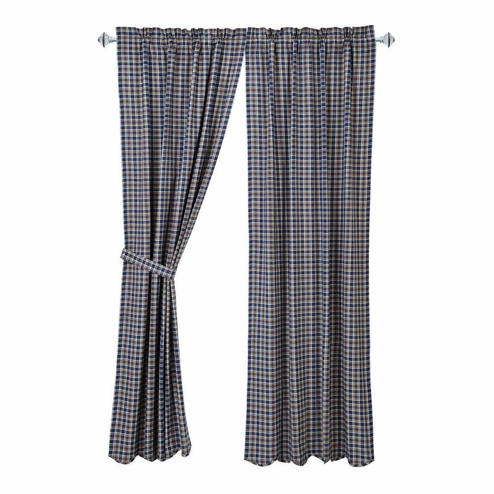 Blue Curtains For Boys Bedroom Brown Plaid Curtain Panels