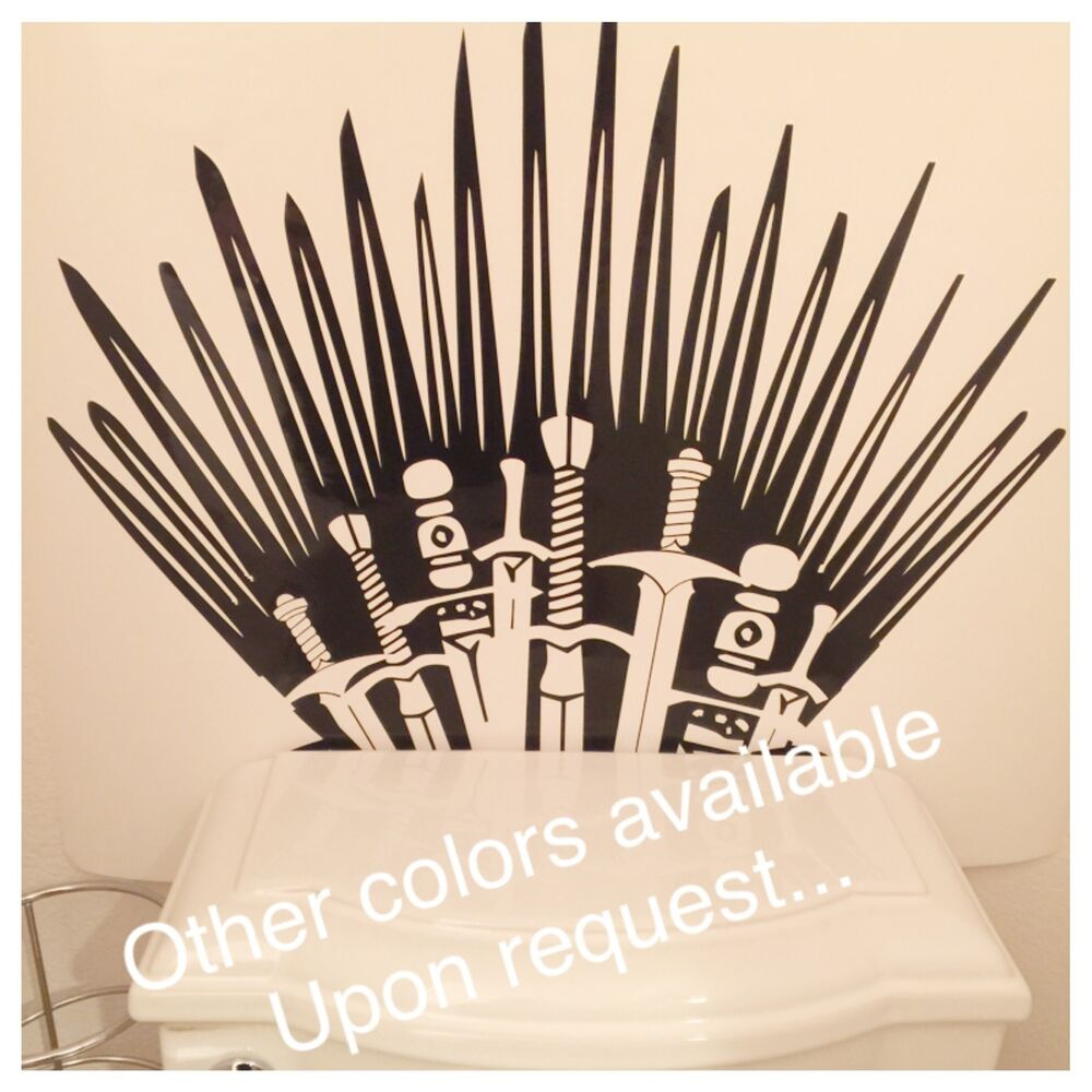 Iron Throne Game Of Thrones Vinyl Decals Toilet Wall