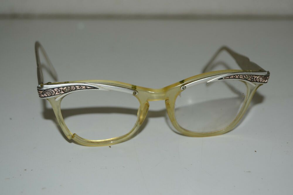 Vintage Cat Eye Womens Eyeglasses Mid Century Broken FOR ...