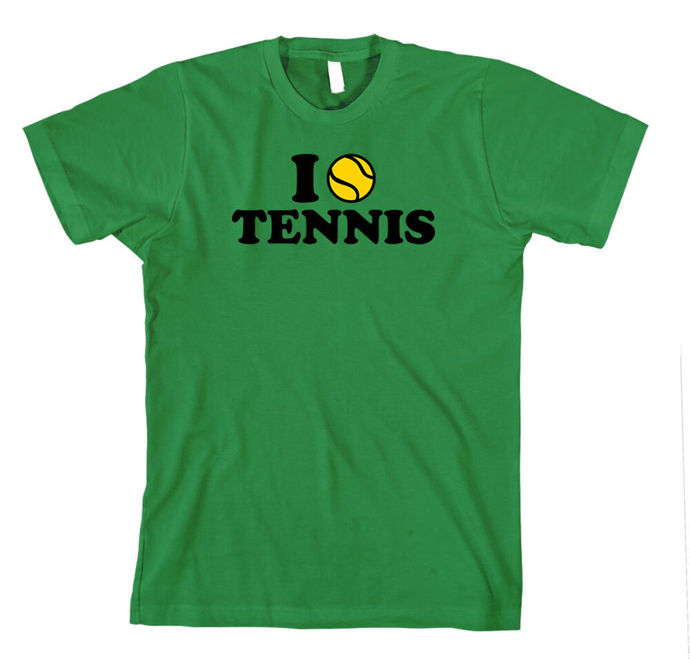 i love tennis sport unisex adult t shirt tee top ebay. Black Bedroom Furniture Sets. Home Design Ideas