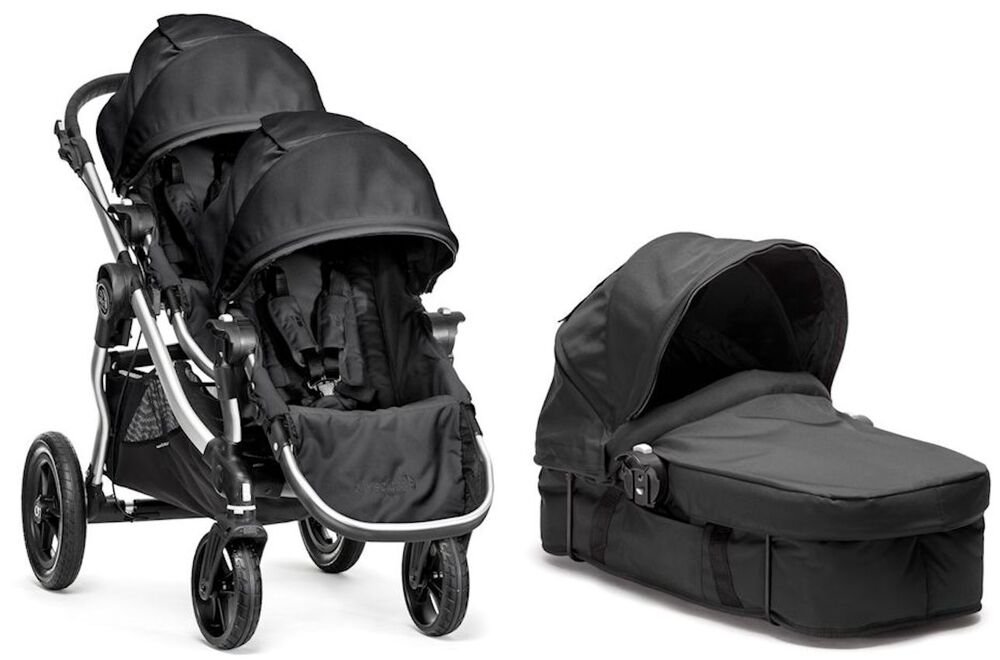 Baby Jogger City Select Twin Double Stroller Onyx w ...