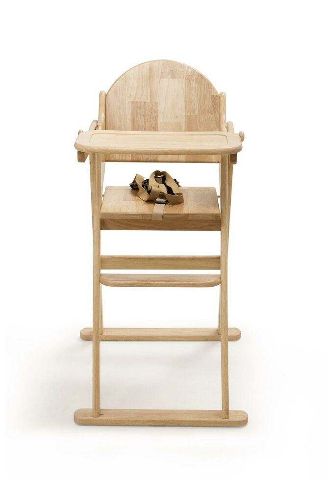 Safetots Easy Foldable Wooden Highchair - Baby Feeding ...