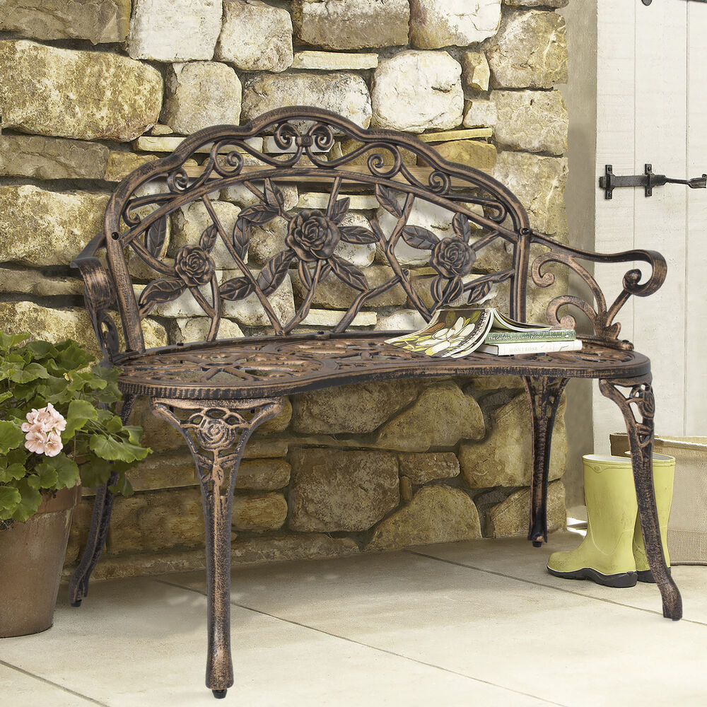 Bcp Outdoor Patio Garden Bench Park Yard Furniture Cast