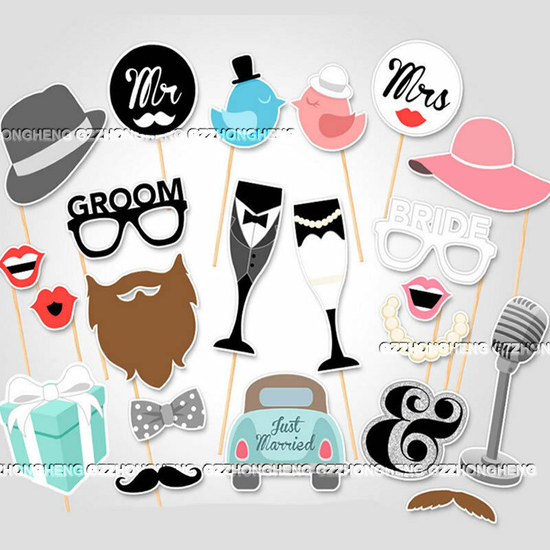 22PCS WEDDING HEN PARTY NIGHT PHOTO BOOTH PROPS HEN DO