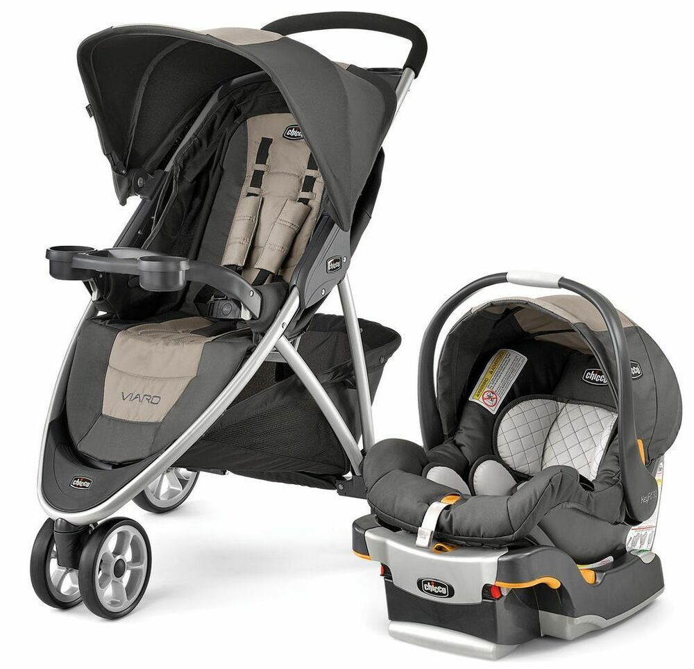 chicco viaro 3 wheel travel system stroller w keyfit 30 car seat teak new 2016 ebay. Black Bedroom Furniture Sets. Home Design Ideas