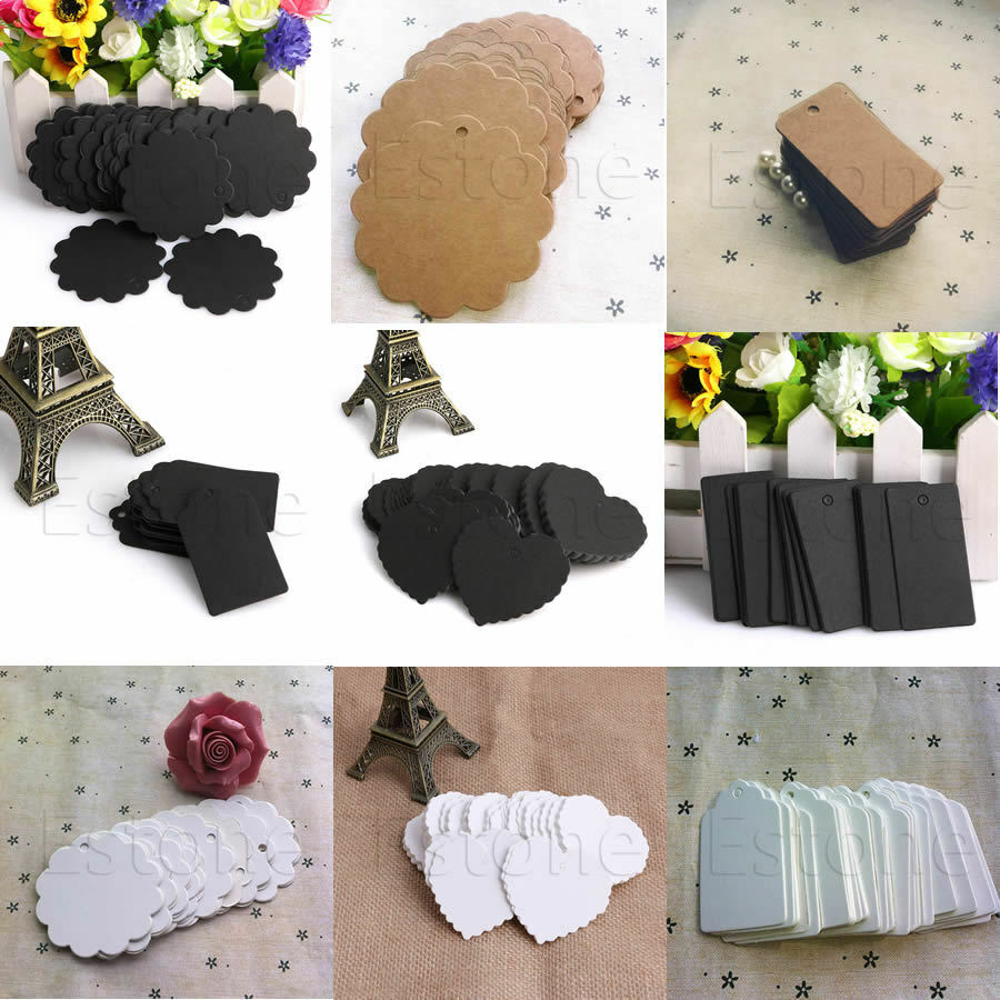 ... Kraft Paper Hang Tags Wedding Party Favor Label Price Gift Card eBay