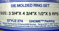 DIE MOLDED RING SET SIZE: 3-3/4 X 4-3/4 X1/2 X5 RPS