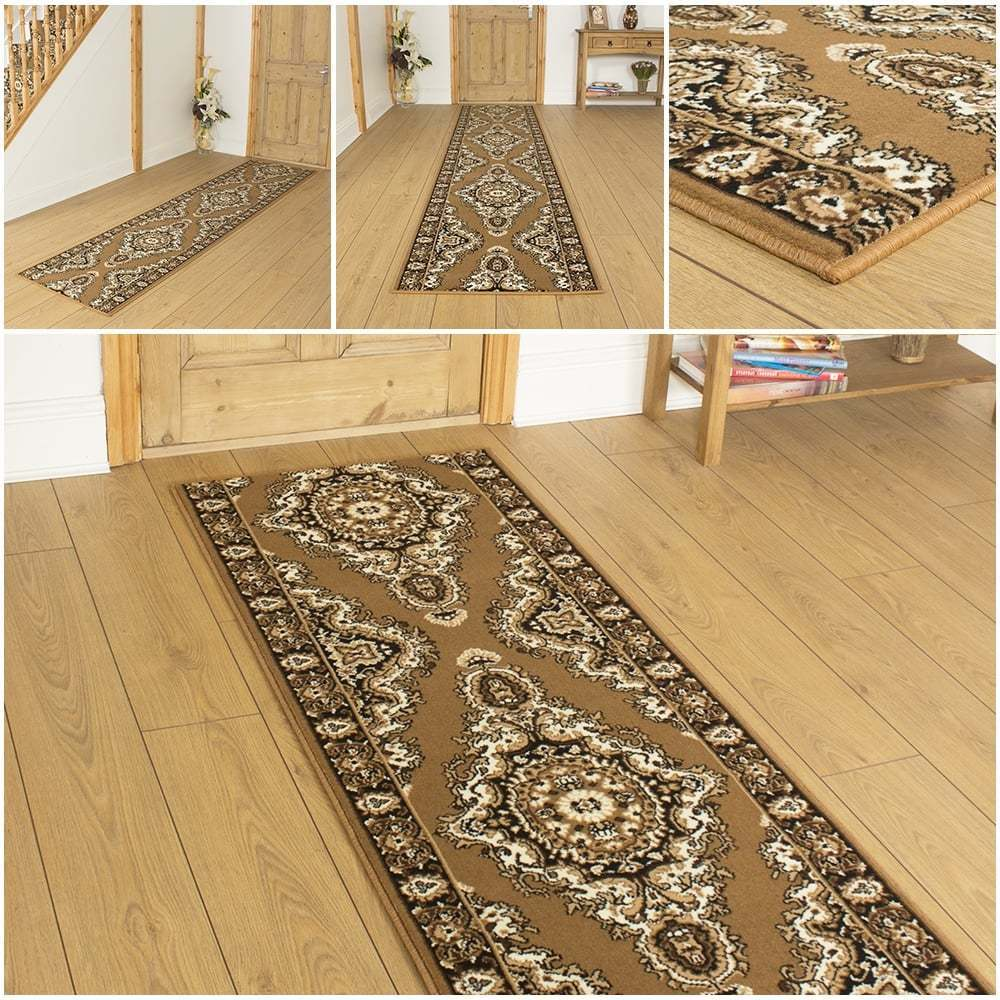 turkesh gold hallway carpet runner rug mat for hall extra very long cheap new ebay. Black Bedroom Furniture Sets. Home Design Ideas