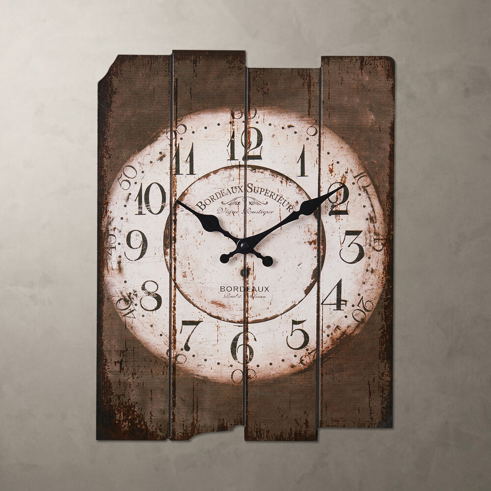 Country vintage antique wood wall clock home decor wall - Wall picture clock decoration ...