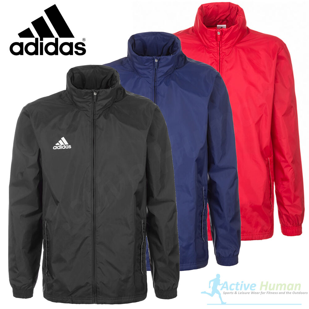 fa89244567fd Details about Mens Adidas Rain Jacket Waterproof Sports Coat Running  Cycling Hooded Windproof