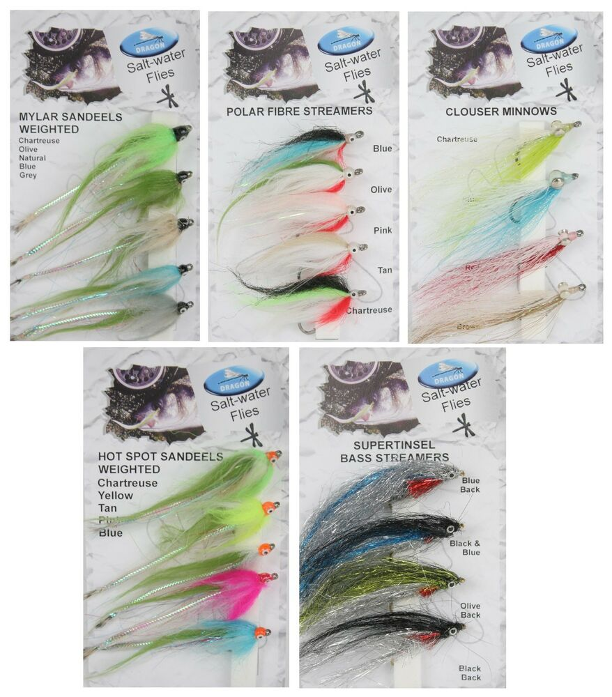 Dragon tackle saltwater flies bass fly fishing ebay for Dragonfly fishing lure