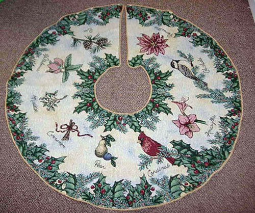 Botanical christmas cardinal chickadee holly quot round