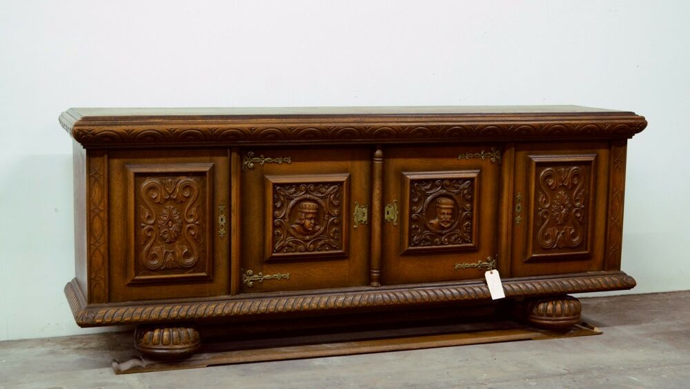 Antique Wooden Sideboards ~ Antique french spanish style carved sideboard