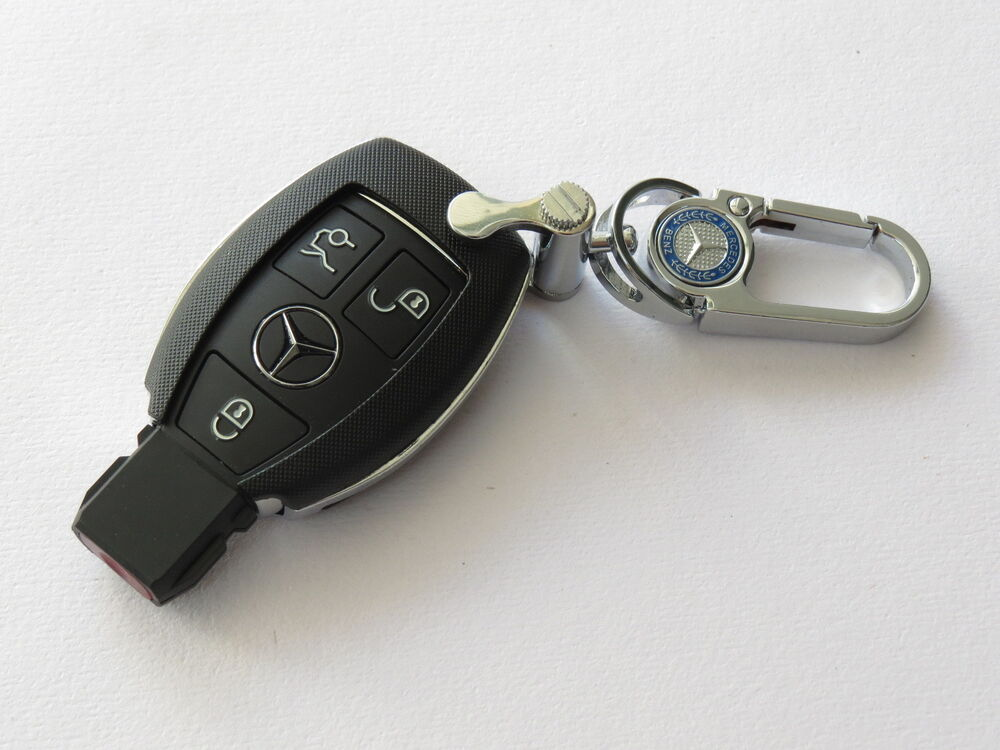 Pinalloy deluxe black plastic remote keyless key cover for Mercedes benz key cover