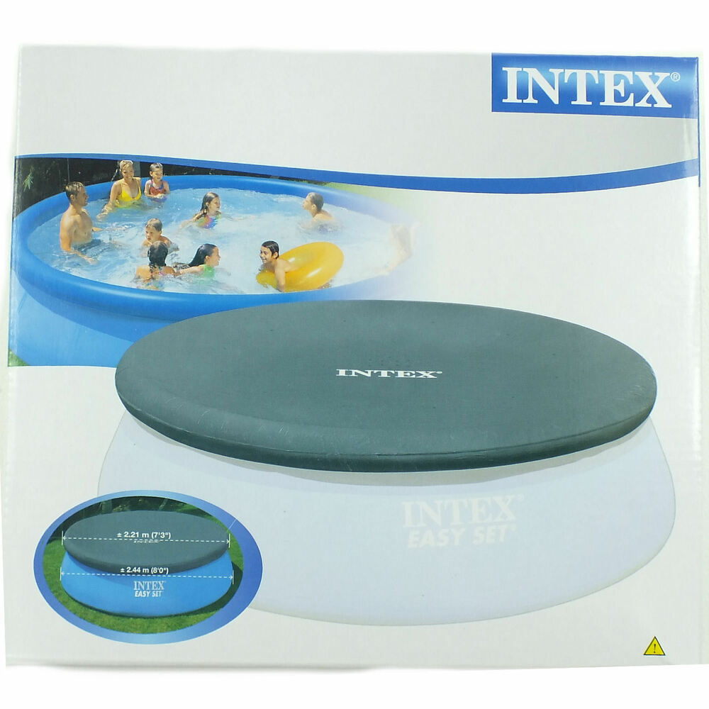 Intex easy set pool debris cover inflatable swimming pool for Above ground pools quick set