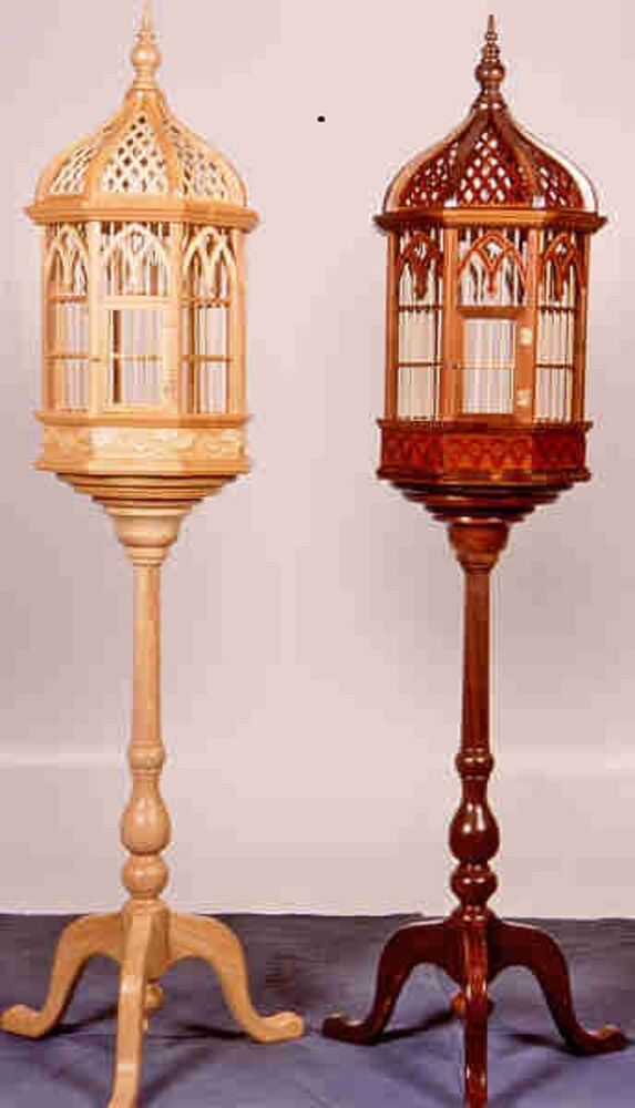 Victorian Pedestal Birdcage Woodworking Plans By Forest