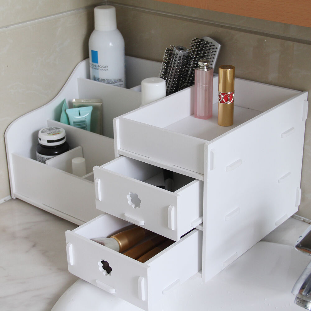 wpc makeup cosmetic holder perfume jewellery case storage organizer box drawers ebay. Black Bedroom Furniture Sets. Home Design Ideas